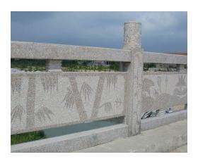 浮雕桥栏杆,石材栏杆